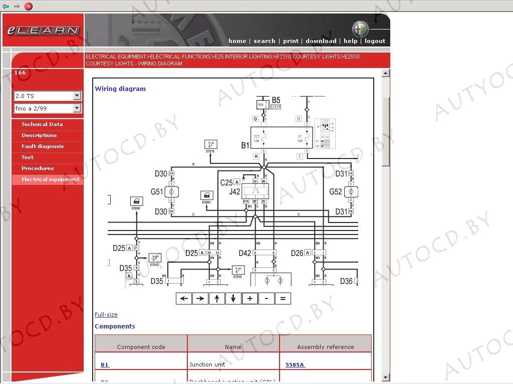 Подробная техническая документация по ремонту Альфа Ромео.  08.07.2010, 414 просмотров.