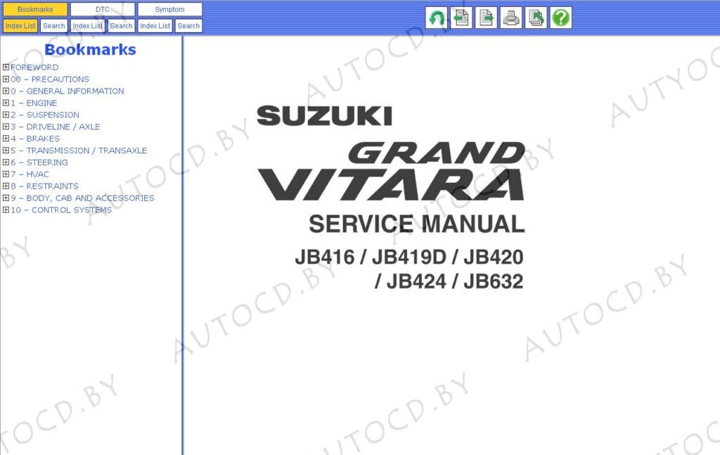 ремонт Suzuki Grand Vitara