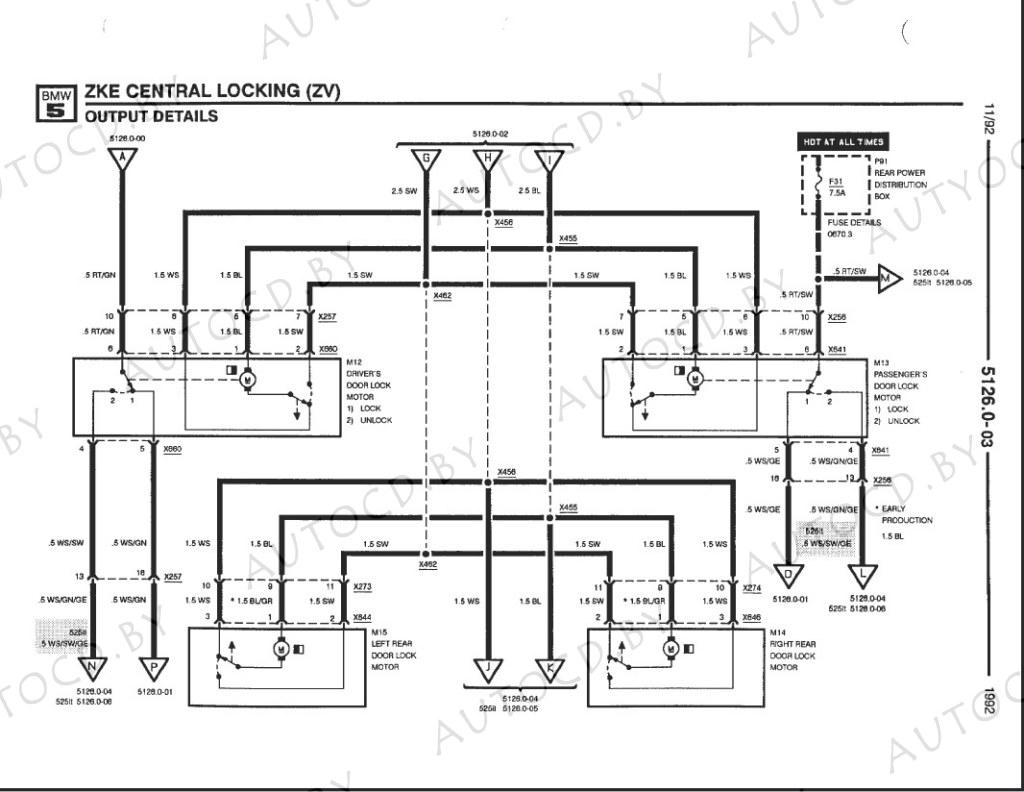 bmw 530 e34 схема электрическая